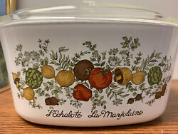 Corning Ware Spice Of Life A-3-b 3 Quart Dish With Cover. Lechalote La Marjolain