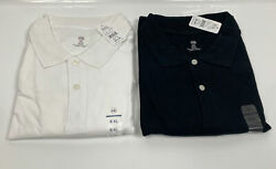 Mens Polo Black And White Harbor Bay Dxl Mens 6xl Lot Of 2 New
