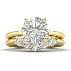1.16ct D-si1 Diamond Wedding Set Engagement Ring 18k Yellow Gold Any Size