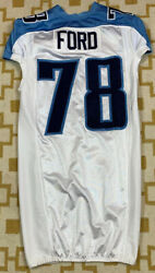 Authentic Game Worn Team Issued Tennessee Titans Nfl Jacob Ford Jersey Sz 44