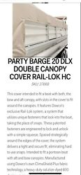 Suntracker Party Barge 20 Dlx Double Canopy Pontoon Cover Rail-lok Charcoil