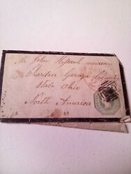 Rare Great Britain Embossed Victoria One Shilling Pale Green Stamp 1847 To 1854