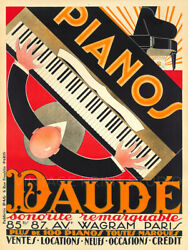 Pianos Daudé 1926 French Advertising Vintage Poster Or Canvas Print 27x36