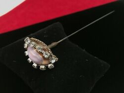 Vintage Costume Stone/glass Hat Pin