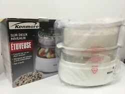 Kenmore - Two Tier Food Steamer With Egg Tray, 60min Timer, And Auto Shut Off