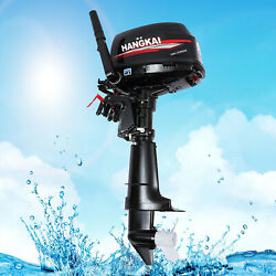 Hangkai 2-stroke Outboard Motor 6 Hp Boat Marine Engine Water Cooling System Cdi