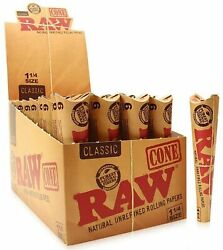 Raw® Classic 1¼ Size Pre-rolled Cones 192x Cones Rolling Paper 32x Packs Usa