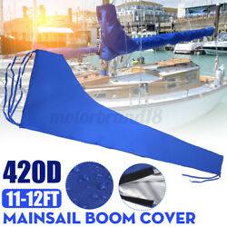 420d Mainsail Boom Cover Sail Protector Waterproof Fabric Blue Fits For