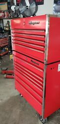 Snap On Tools Top And Bottom Toolboxes. 36w 24 D