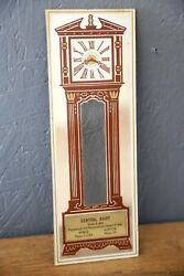 Vintage Antique Glass Thermometer Central Dairy Milk Clock Advertising Face Only