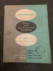 1933-61 Chevrolet Parts And Accessories Catalog-covers Corvette Chevy And Trucks