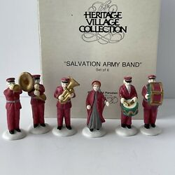 """Dept. 56 """"salvation Army Band"""" 5985-4 Heritage Village Christmas In The City"""
