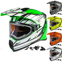 Gmax At-21s Epic Mens Electric Lens Cold Weather Dot Snowmobile Helmet