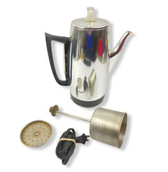 Vintage General Electric Ge Immersible Percolator Coffee Pot Works A8p15