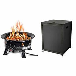 Outland Firebowl 883 Mega Outdoor Propane Gas Fire Pit, 24-inch And Bond, Black
