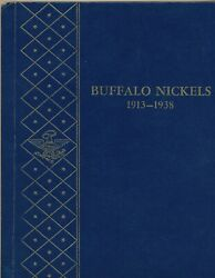 Complete Set Of 64 Buffalo Nickels 1913 - 1938 In A Whitman Album 9408 Us 5cent