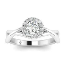 1.3ct F-vs2 Diamond Pave Infinity Engagement Ring 18k White Gold Any Size