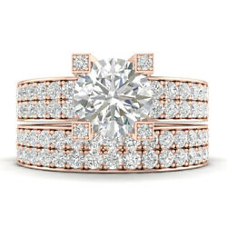 2.25ct D-si1 Diamond Peekaboo Engagement Ring 18k Rose Gold Any Size