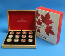 2013 O Canada 12-silver Coin Set In Original Royal Canadian Mint Box With Coa