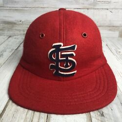 St Louis Cardinals Vintage Wool/rayon Red Fitted Union Made Hat 50s-60s Large