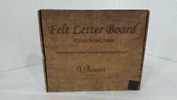 Felt Letter Board 10x10 inches with Rustic Wood Frame. Precut White amp; Gold Bags. $28.29