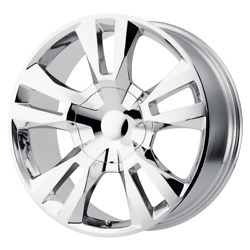 4 Rims Oe Creations For Chevey Tahoe Rst 24x10 6x5.5 Offset 31 Chrome
