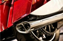 New Victory Chrome Tri Oval Exhaust Trioval Magnum Crossroads Cross Country