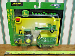 John Deere 4250 With Forage Harvester And Wagon By Ertl 1/64th Scale