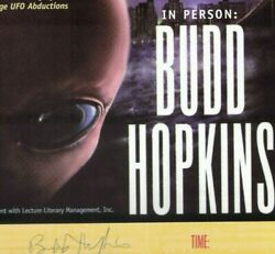 Ufos - Budd Hopkins - Alien Abductions - Book Jacket Poster - Signed - Rare