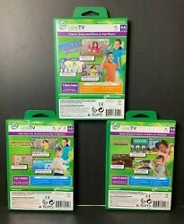 Leap Frog Lot Of 3 Games Sports Kart Racing Supercharged Dance And Learn Used