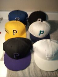 Lot 6 Baseball Caps / Hats--fitted--7 1/2----pirates / Ohio St -free Ship--gc