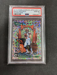 2018 Panini Donruss Optic Downtown Rookie Baker Mayfield Cleveland Browns Psa 10