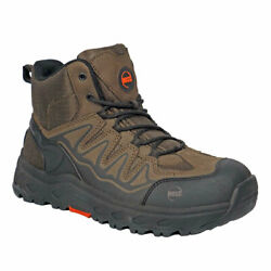 Hoss Boot Company Men Eric Hi Safety Toe Brown Boots 50239
