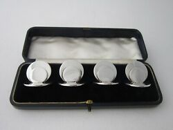Chester Antique Sterling Silver Menu/place Card Holders - 1905 By Sampson Mordan