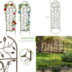 Iron Arched Trellis Steel Climbing Plant Support Home Garden Lawn Use 60in 2pack