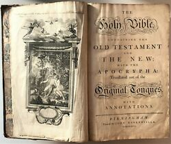1772 Holy Bible Old New Testament Apocrypha Annotations Baskerville Folio Plates