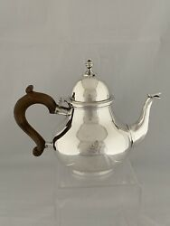 Antique Silver Tea Pot Queen Anne Style 1937 London D And J Welby Sterling Crested