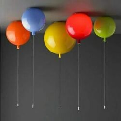 Balloon Acrylic Ceiling Light Fixture Children Bedroom Lamps Vintage With Switch