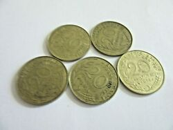Lot Of 5 -rep. Francaise 20 Centimes , Year 1963-1978 ..        C75