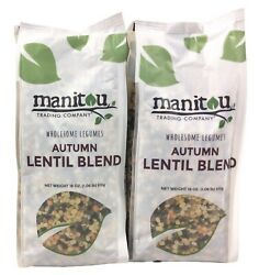 2 Pack Manitou Trading Company Wholesome Legumes Autumn Lentil Blend 18oz Bags