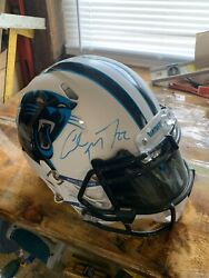 Nfl Helmets Full Size Authentic Autographed By Cmc Carolina Panthers