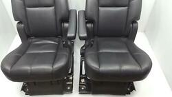 07-14 Chevy Tahoe/yukon Only Black Leather 2nd Row Captain's Chairs Set Of 2