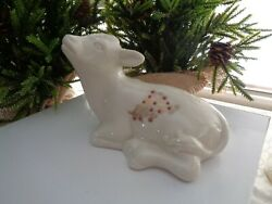 Lenox China Jewels Cow Vintage Nativity Made In Usa 1992