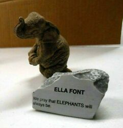 The Herd Marty Sculptures Elephant Figurine 3162 Ella Font And Stone Martha Carey