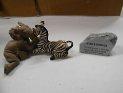The Herd Marty Sculptures Elephant Figurine 3401 Stars And Stripes Martha Carey