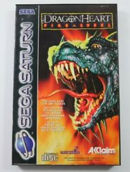 Dragon Heart - Fire And Steel Sega Saturn Pal-euro Complete - Great Condition