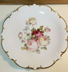 Bavaria Schumann Arzberg Germany Chop Plate Round Platter 12and039and039 Antique Rose