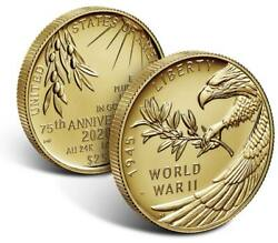 End Of World War Ii 75th Anniversary 24-karat Gold Coin Sealed And Unopened