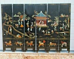 6 Panel, 6' Tall, 8' Wide Asian Screen/room Divider