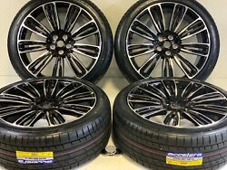 22 Range Rover Rims Tires Fit Cayenne Edition Supercharged 5x120 Black 5x120
